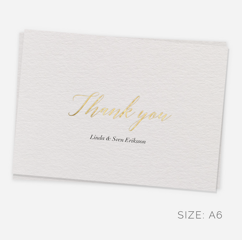Luxury Thank You Notes with your Name