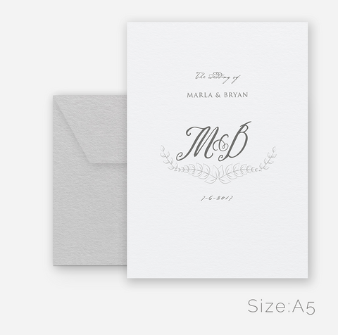 Antique Design Wedding Invitation