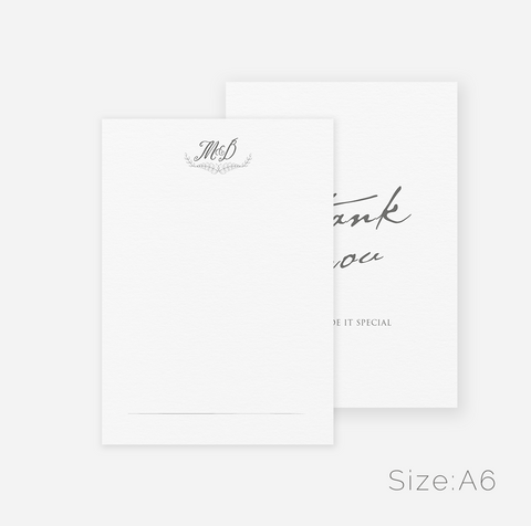 Antique Design Thank You Cards