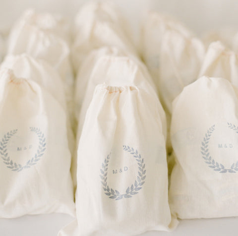 Custom Stringbag - printed with Wedding Logo-Initials