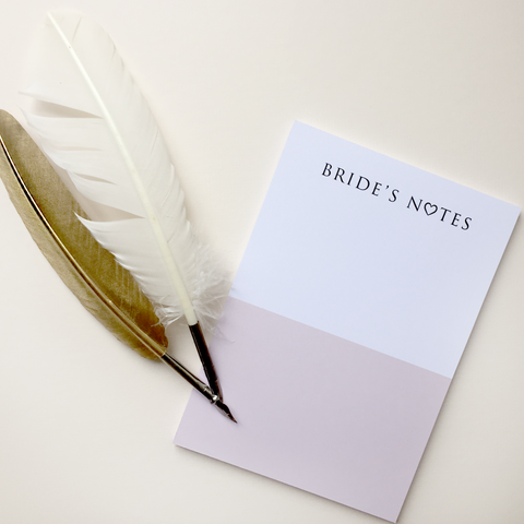 Bride's Notes Notepad