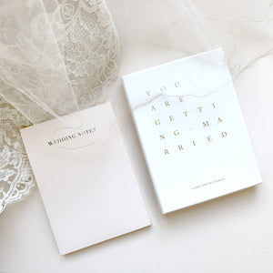 Blush Wedding Notes