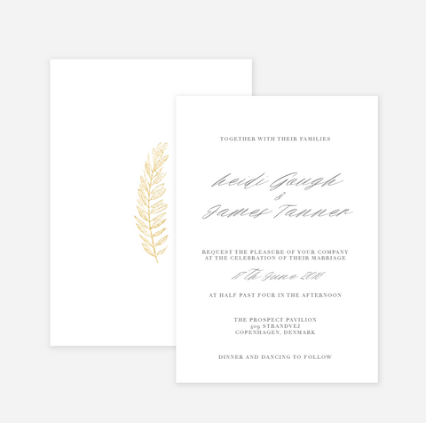 Olive Gold Wedding Invitation