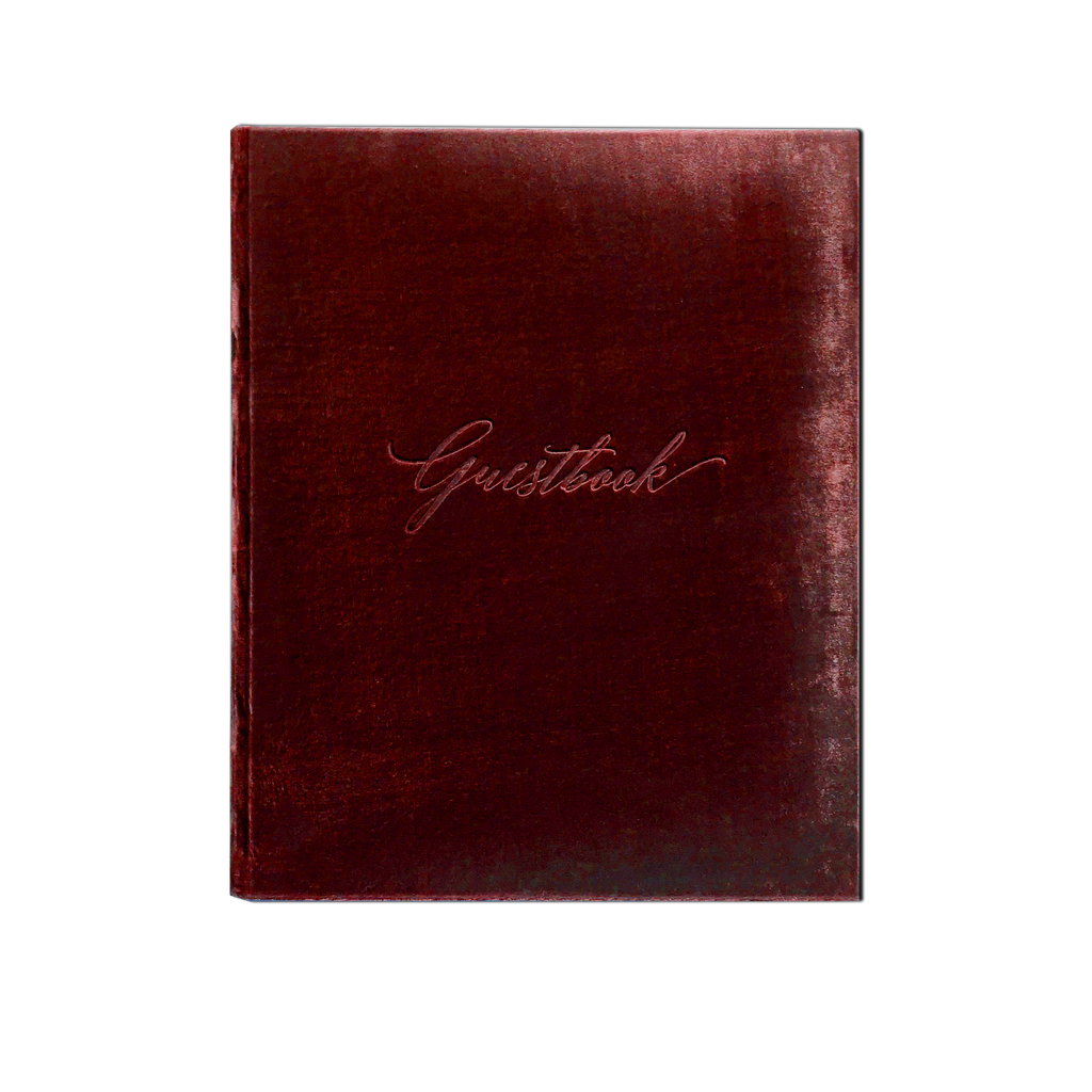 Guestbook - Silk Velvet Red Wine