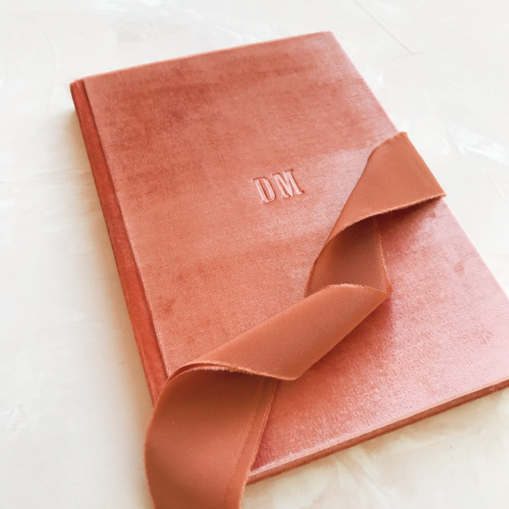 Custom Velvet Notebook - Peach