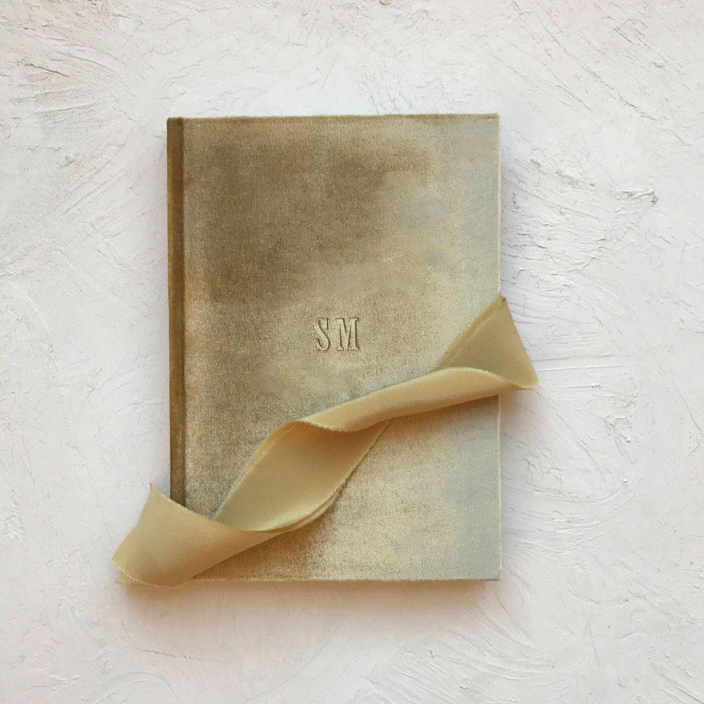 Custom Velvet Notebook - Gold