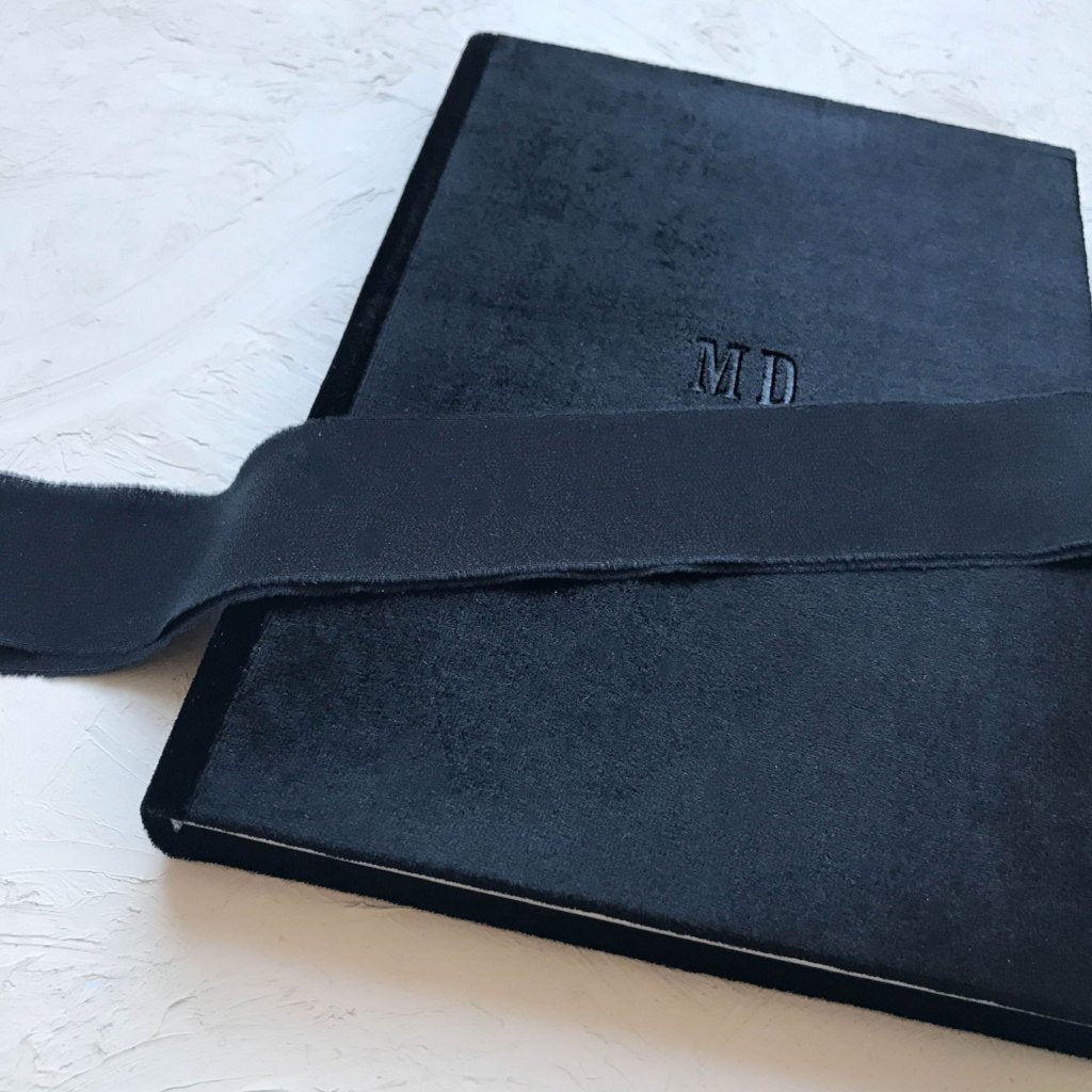 Custom Velvet Notebook - Nero