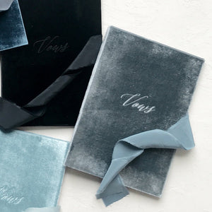 Vow Book Covers Uk Velvet - Dark Grey Wedding Stationery wedding theme