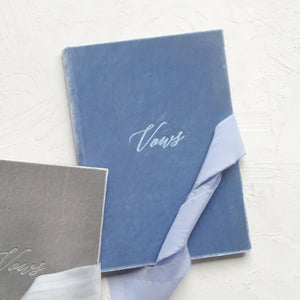 Vow Book Covers Uk Velvet - Lavender, purple Wedding Stationery