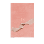 Custom Velvet Notebook - Blush