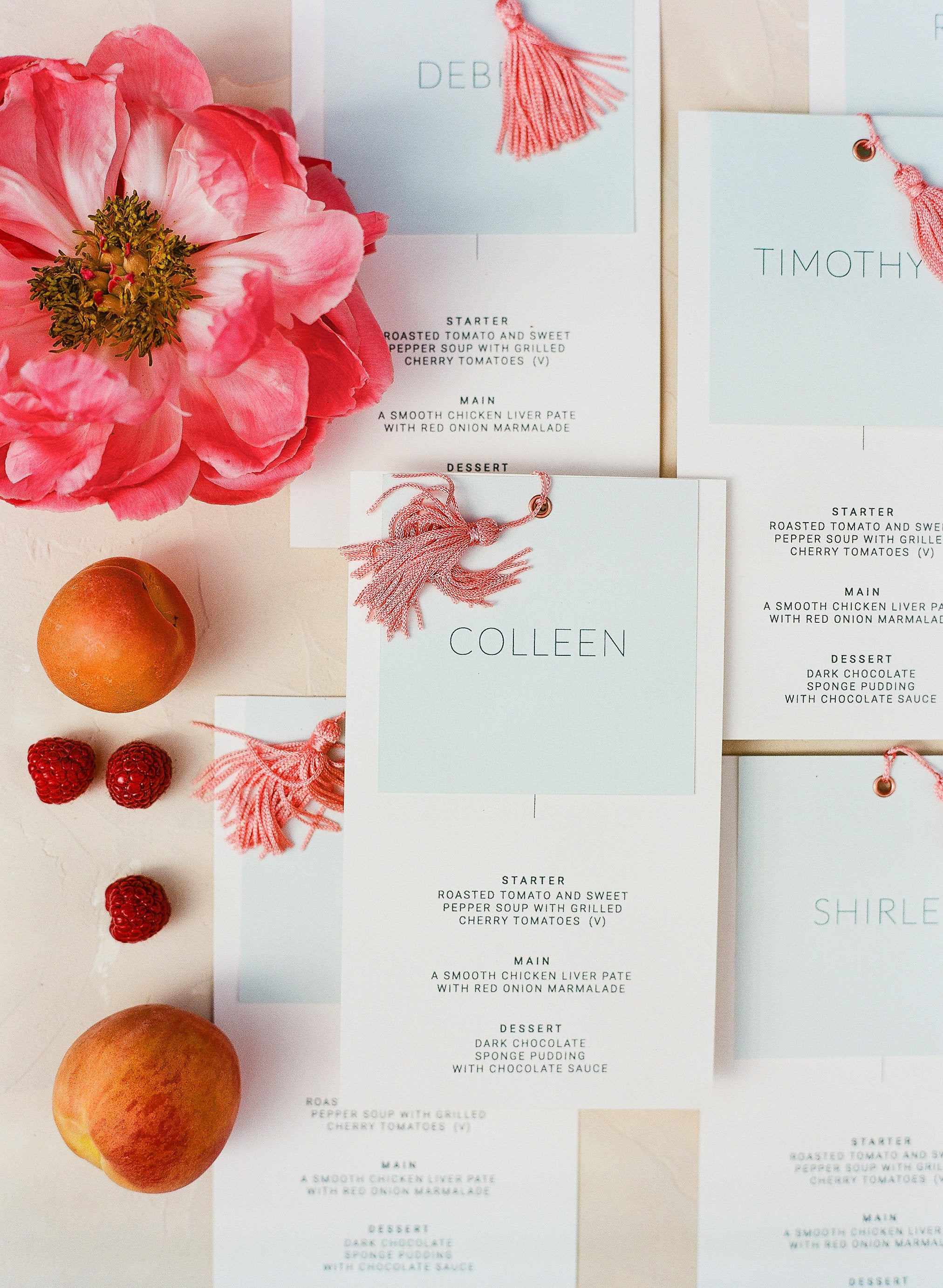 Colourful Modern Set - Peach Stationery