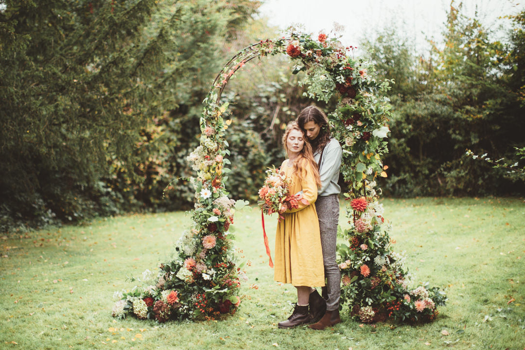 NATURAL AUTUMN INSPIRED WEDDING SHOOT