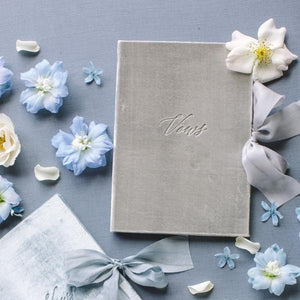 Vow Book Covers Uk Velvet - Light Grey Wedding Stationery wedding theme