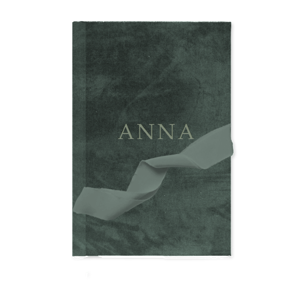 Custom Velvet Notebook - Sage Green