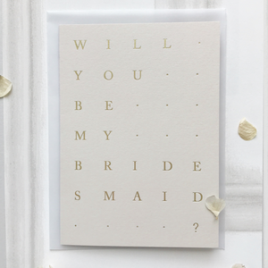 Bridesmaid Card Stone