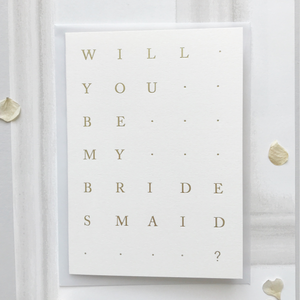 Bridesmaid Card Natural