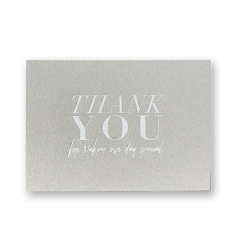 Thank You Cards-White Foil