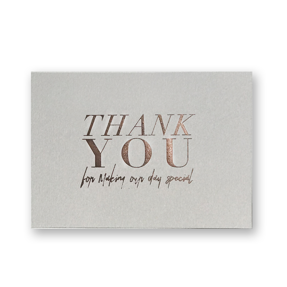 Thank You Cards-Stone-Rose Foil