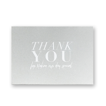 Thank You Cards-Grey-White Foil