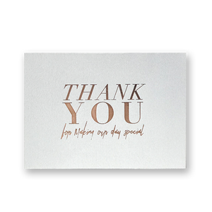 thank you cards grey rosegold e l m o paperstories