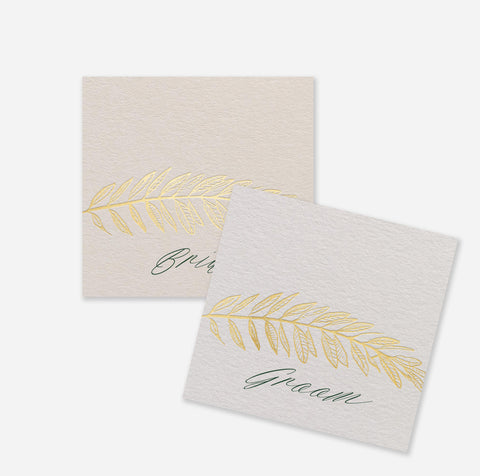 Olive Gold Placecards
