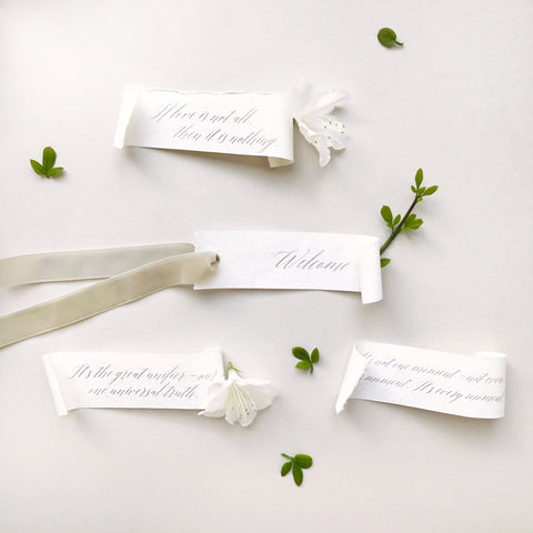 Handmade Placecards / Tags