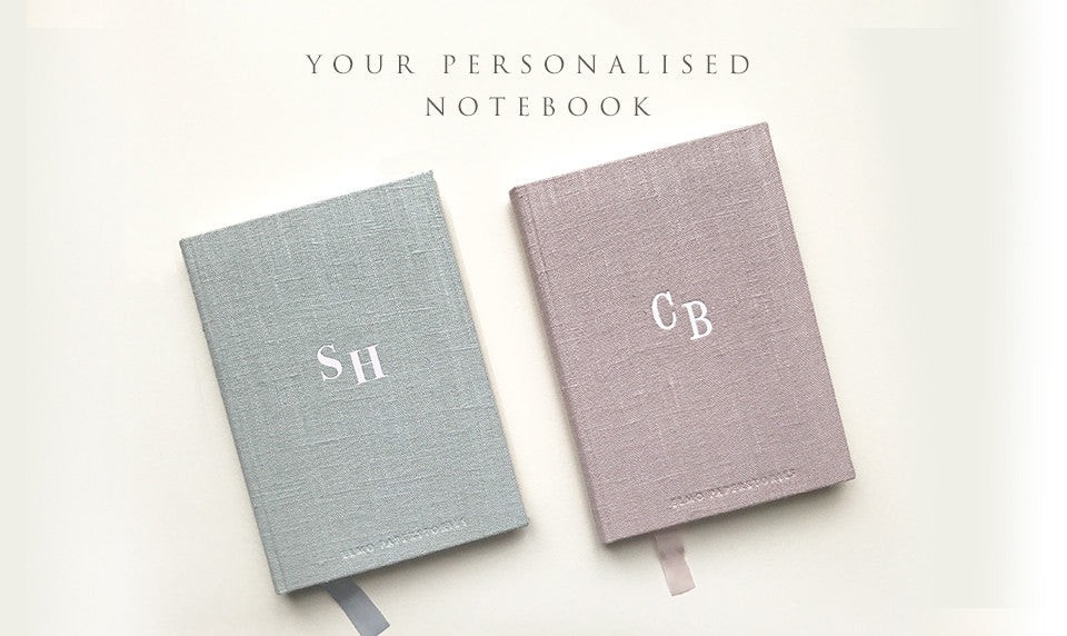 NOTEBOOK WITH YOUR INITIALS