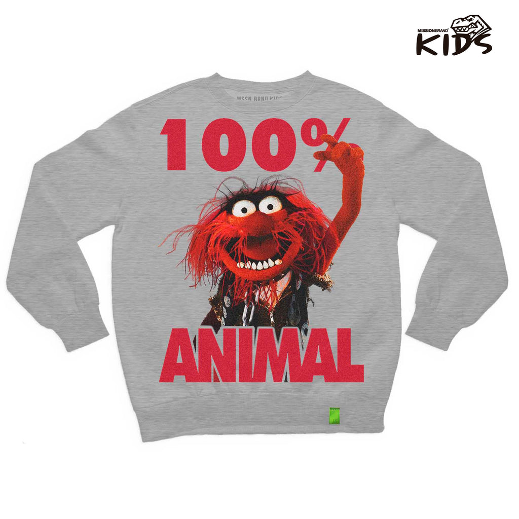 "Sudadera Kids ""100% animal"""