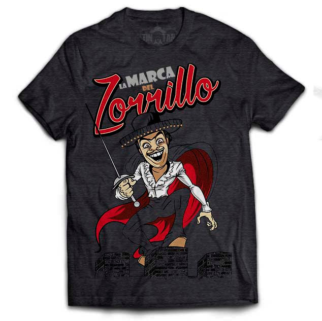 "Playera Tin Tan ""La Marca del Zorrillo"""