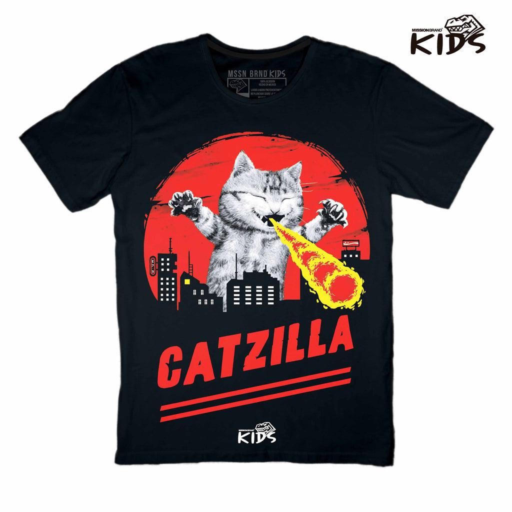 "Playera Kids ""Catzilla"""