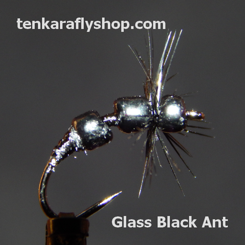 Glass - Black Ant Size #16 Klinkhamer Barbless - 3 Flies