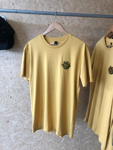 Mustard Embroidered Funk Estate Fillery T-Shirt