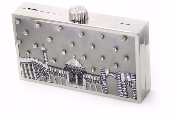 LANDMARK Silver - handmade artisan clutches by MINZA