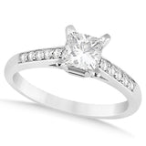 1.00ct Princess Cut Style 14k White Gold Diamond Engagement Ring