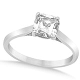 1.00ct Solitare Cushion Cut Style 14k White Gold Diamond Engagement Ring