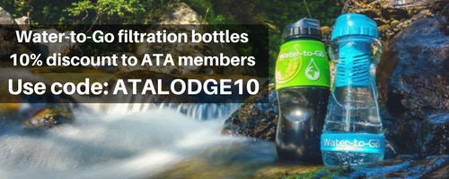 New Partnership between ATA Lodge and  Water To Go for a Healthier Environment and Safe Drinking Water for You!