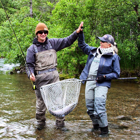 Fly Fishing Guide and Client