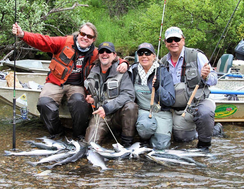 ATA Lodge Guests with Large Catch of Salmon