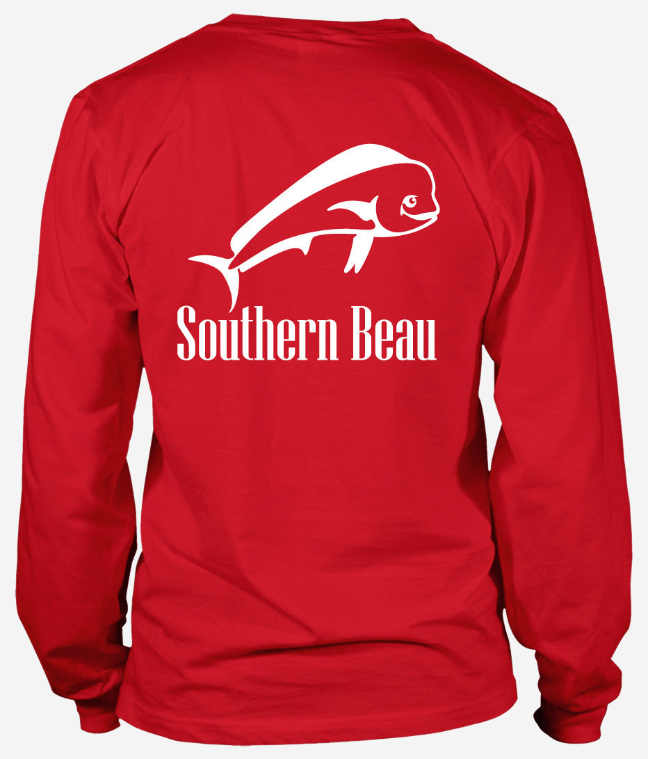 Southern Beau Grand Isle Long Sleeve T-Shirt Red