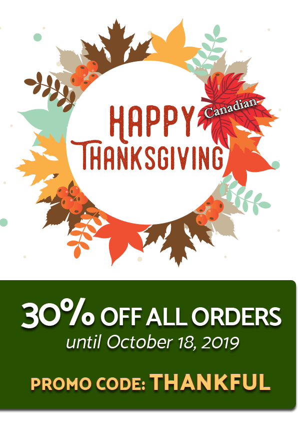 Canadian Thanksgiving Sale!