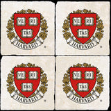 Harvard Crest 4 Coaster Set