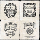 Harvard Vintage Logos 4 Coaster Set
