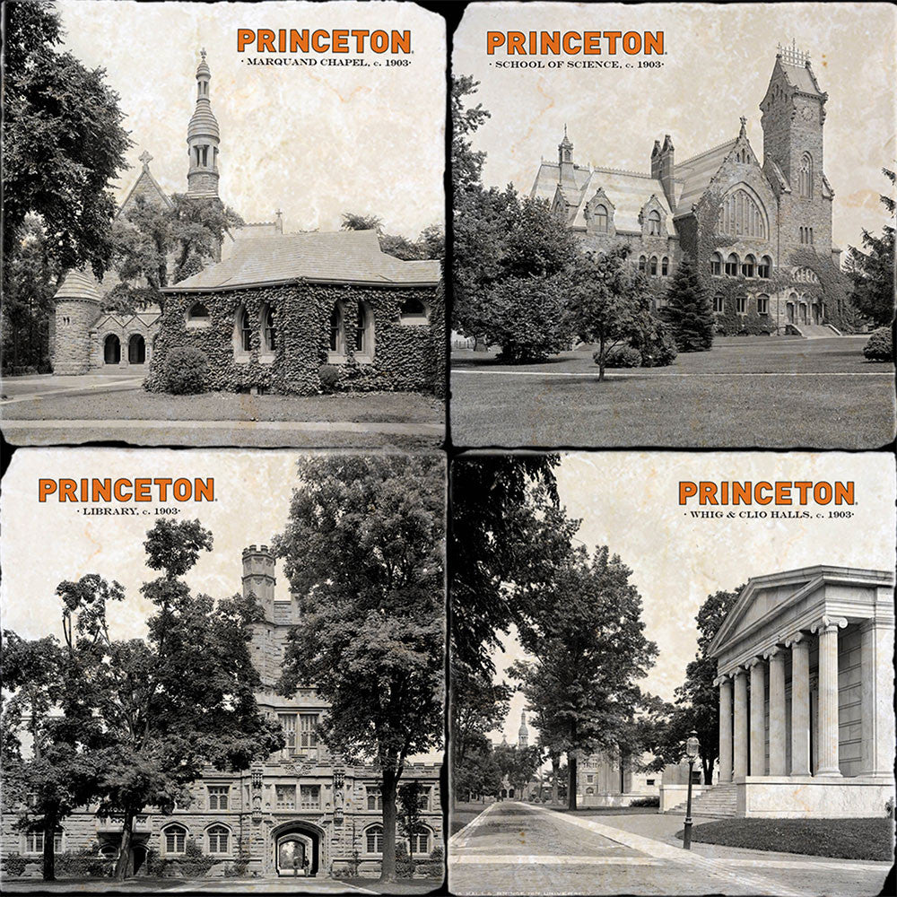 Princeton Campus Buildings 4 Coaster Set