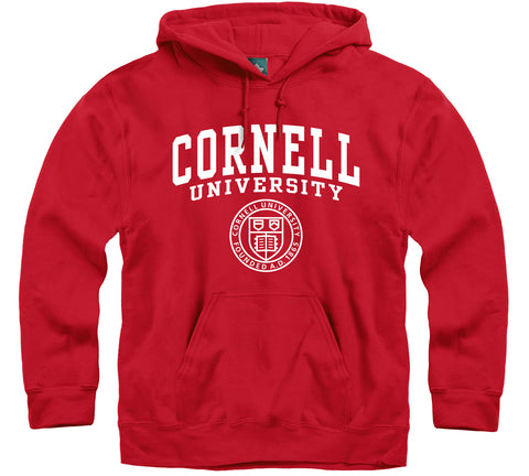 Cornell Heritage Hooded Sweatshirt (Red)