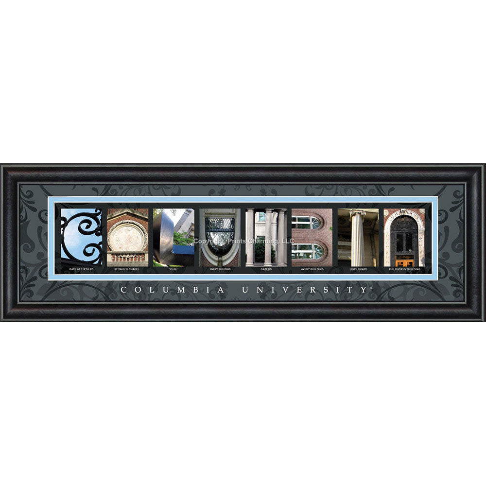 Columbia - Campus Letter Art (Black)