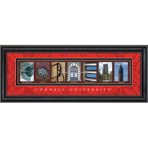 Cornell - Campus Letter Art (Red)