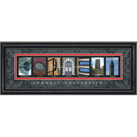 Cornell - Campus Letter Art (Black)