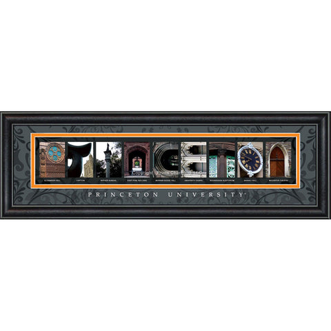 Princeton - Campus Letter Art (Black)