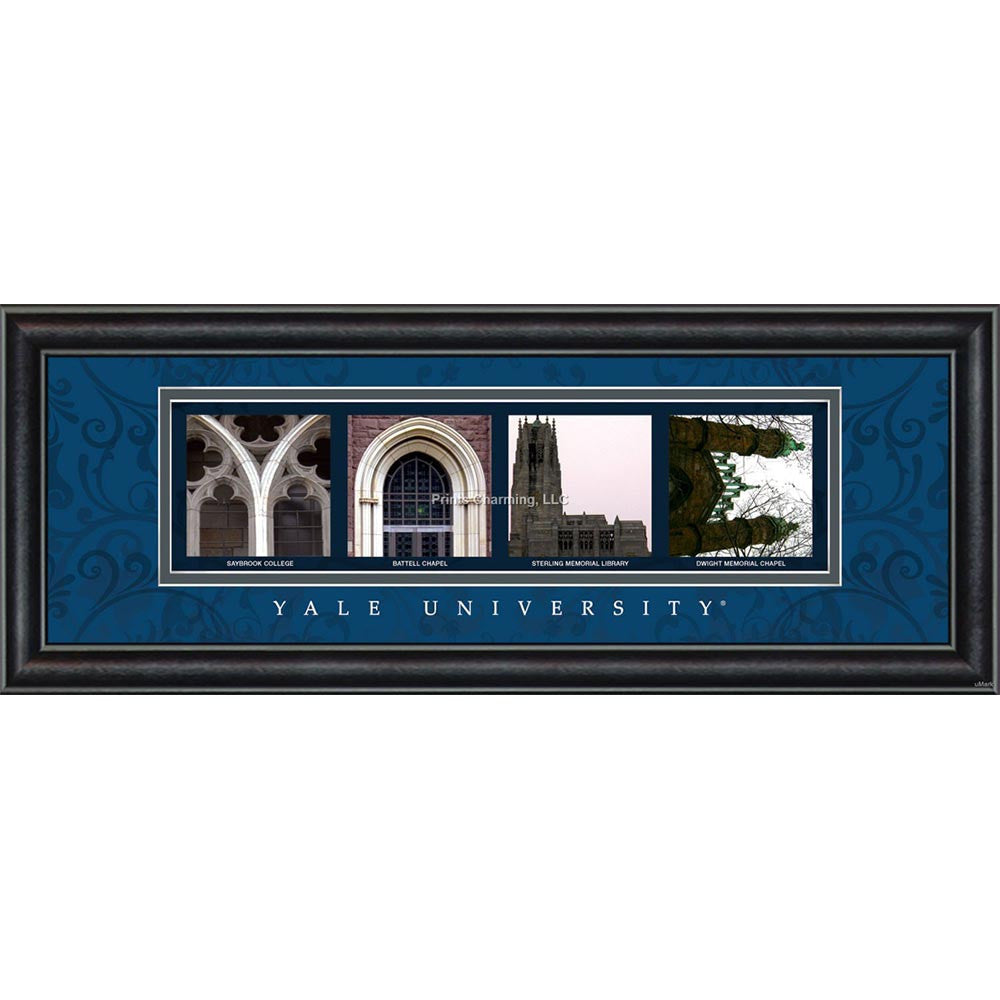 Yale - Campus Letter Art (Blue)