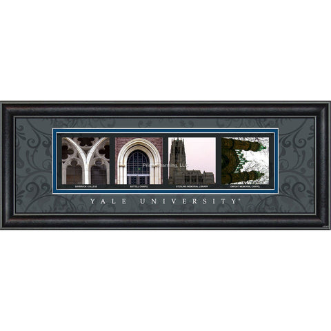 Yale - Campus Letter Art (Black)